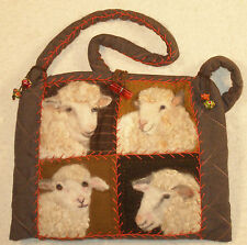 Sheep Faces Felted Applique Bag PDF Pattern, D Konchinsky, Critter Pattern Works