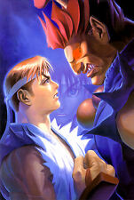 Street Fighter Alpha Art Poster |A3 to A1+| SNES PC Playstation Saturn PS2 Frame