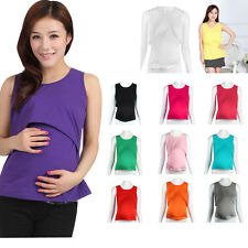 Fashion Women Pregnant Maternity Clothes Nursing Tops Breastfeeding Vest T-Shirt