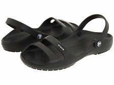 Women Crocs Cleo II Slide Sandal Black Black 100% Authentic Brand New With Tag