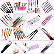 Nail Art Pen Brush Set UV Gel Acrylic Dot Painting Marbleizing False Tips