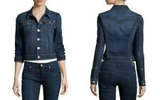 True Religion Women's Emily Western Denim Jacket Core Vintage in Sapphire Blue