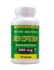 100% Pure Green Coffee Bean Extract Weight Loss Dieting Pills 800mg