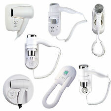 WALL MOUNTED HAIR DRYER HOTEL DRAW ELECTRIC HIGH POWER COMMERCIAL HUNG DRYERS UK