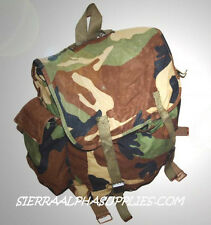 CROATIAN ARMY SURPLUS ISSUE WOODLAND DPM CAMO COTTON BACK PACK,PATROL SACK G1