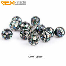 6 pcs Natural Faceted Abalone Shell Beads For Jewelry Making, Jewelry Beads