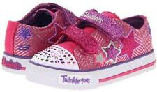 New Girl's Skechers 10249N Twinkle Toes Shufles Triple Ups Light Up Shoes (X200)