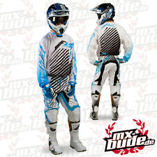 Fly Racing Kinetic RS Combo Trousers + Jersey blue white Motocross Enduro Cross