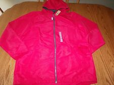 NWT MENS REEBOK LIGHTWEIGHT JACKET RED HOODED ZIP UP X-LARGE XL $60