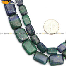 "Lapis Lazuli Malachite Stone Beads For Jewelry Making 15"" Rectangle Wholesale"