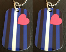 Rainbow Gay Pride Leather Flag 2-Sided Color Photo Dog Tag Necklace / Keychain