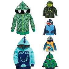 Kids Boys Clothes Animal Hoodies Zipper Casual Top Jacket Coat Tee T-shirt
