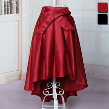 New Lady Stylish Irregular Maxi Dress Long Skirt Pleated Skater Skirt Flared