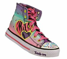 New Girl's Skechers 10297N Twinkle Toes Wildlights Light Up Shoes (X212)