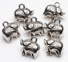 Wholesale 5/20Pcs Tibet Silver Elephant Charm Pendant Jewelry Findings 12x11MM