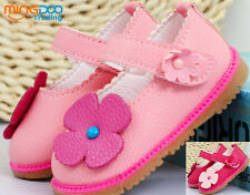 New infant baby girls shoes princess flower sandals soft sole toddler size 3.5-6