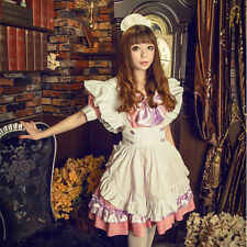 Japanese Maid Uniform Costume & Lolita Bow Dress for Halloween/Cosplay Party