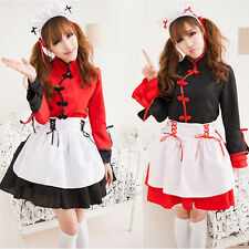 Hot Sexy Japanese Maid Lolita Uniform Halloween Costume Women Cosplay Outfit
