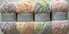 TEDDY FLOSSY SUPER-SOFT CHUNKY KNITTING WOOL 1 x 50GRM BALL VARIOUS COLOURS