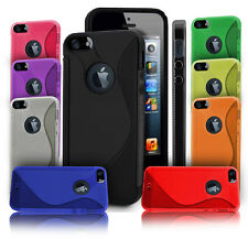NEW S Line Gel Case Cover For Apple iPhone 5 IPHONE SE  + SCREEN PROTECTOR