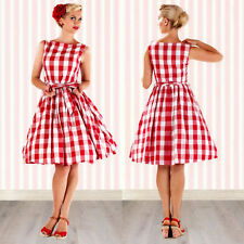 Women Vintage Style 50s Rockabilly Pinup Swing Evening Prom Party Cocktail Dress