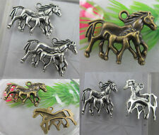 wholesale: 8/15pcs lovely horse Retro style silver alloy charms pendant 28x23mm