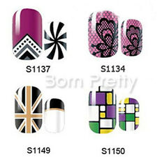 14Pcs Star Full Nail Art Wraps Flower Pattern Adhesive Nail Stickers