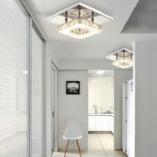 Modern Crystal LED Ceiling Pendant Lamp Stainless Steel Fixture Chandelier Light