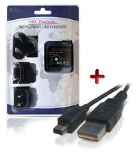 OLYMPUS SP-800UZ / SP-810UZ DIGITAL CAMERA USB BATTERY CHARGER F-2AC / F-3AC