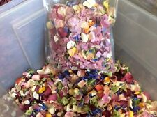 wedding confetti - real dried flower petals mixed colours 6 litre bag - best buy