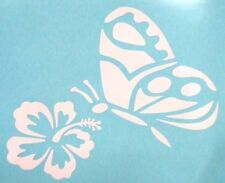 Sexy Butterfly Flower Hibiscus Car Truck Window Vinyl Decal Sticker 12 COLORS