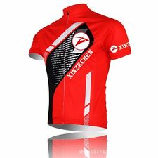 2015 PRO TEAM Cycling Jersey Bike Bicycle Clothing Short Sleeve Jersey Top RED