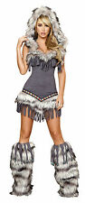 Native American Dress Halloween Costume Indian Costume Roma Hooded Costume 4427