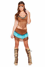 Indian Babe Costume Native American Top and Skirt Indian Halloween Costume 4583
