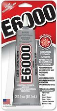 NEW!!! E6000 Craft Industrial Strength Adhesive, Clear, 2 oz 1,2 or 6 pack