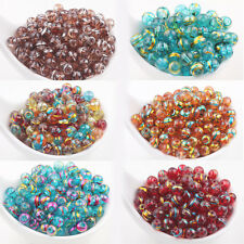Wholesale 20/50Pcs Charms Spun Glass Multi Color Round Loose Spacer Bead  6/8mm