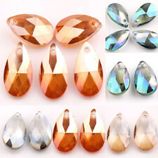5/10Pcs Charm Faceted Teardrop Glass Crystal Pendant  Loose Spacer Beads DIY