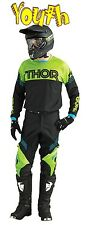 THOR Phase Kit YOUTH HYPERION GREEN BLACK 2016 MOTOCROSS ENDURO JERSEY & PANT