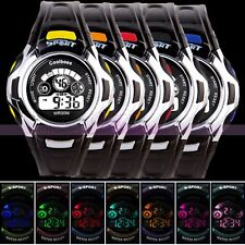 Fashion Mens LED Sport Watch Backlight 24-hour Dial Date Alarm Boys Wristwatches