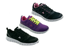 Ladies Sport Shoes Runners/Sneakers Areosport Quick Black or Purple US 6-11