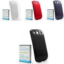 4500mAh Replacement Li-ion Battery + Back Cover For Samsung Galaxy S3 III i9300