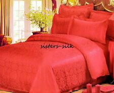 19 Momme 100% Pure Silk Seamless Duvet Cover Fitted Flat Sheet Set Size Cal King