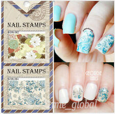 1 Sheet Flower Vine Pattern Nail Art Manicure Water Decals Transfers Stickers