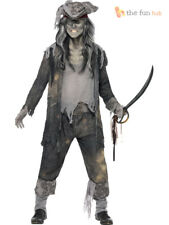 Mens Ghost Ship Zombie Pirate Halloween Fancy Dress Costume Adult Party Outfit