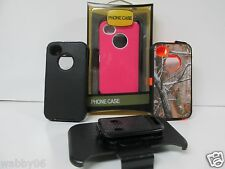 Defender Case For Apple  iPhone 4/4s W/ Belt Clip & Screen Protector