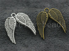 10/40/200pcs Tibetan Silver Exquisite Birds Wing Jewelry Charms Pendant 21x19mm
