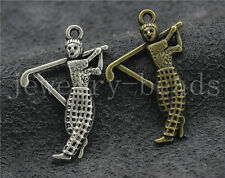 8/30/150pcs Aneique Silver Lovely Golf Ambassador Jewelry Charms Pendant 31x21mm