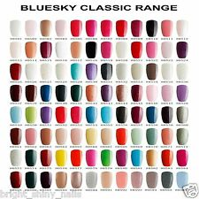 BLUESKY NAIL POLISH UV LED GEL CLASSIC COLOURS NEW SOAK OFF GEL FREE 1ST CL POST