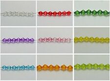 200 Transparent Acrylic Faceted Bicone Spacer Beads 8X8mm Pick Your Color