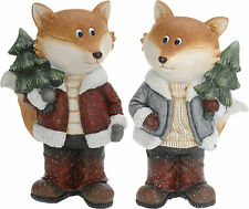 Stunning Large 50cm Fox Christmas Figurine Christmas Decoration Outdoor/Indoor